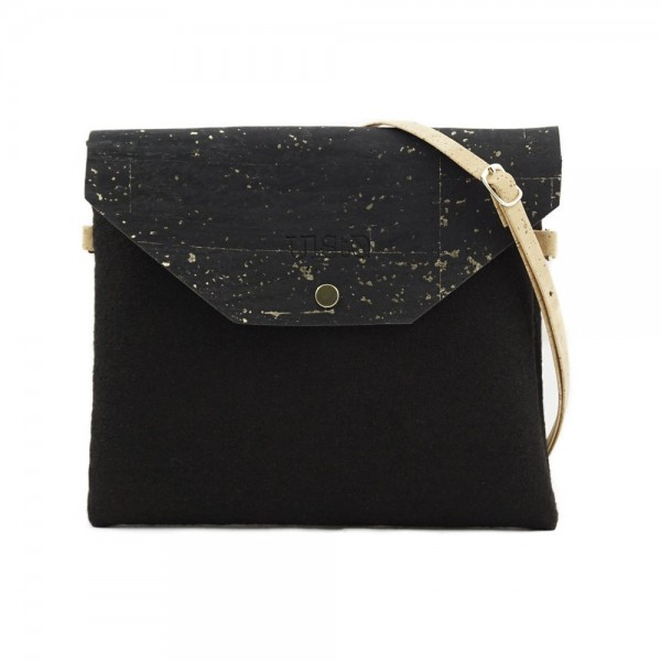 UlStO Handtasche Marila - schwarz-gold