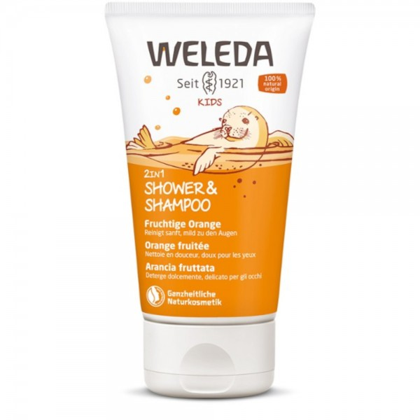 Kids 2in1 Shower & Shampoo Fruchtige Orange Weleda