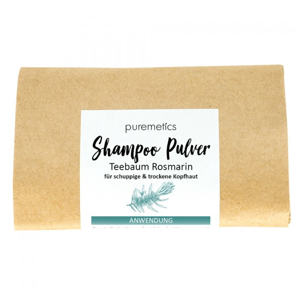 Shampoo-Pulver Teebaum Rosmarin - schuppiges Haar & juckende Kopfhaut