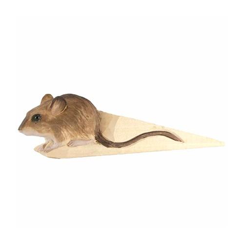 Handgeschnitzter Türstopper - Maus