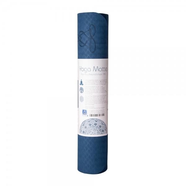 Yogamatte aus TPE 6 mm - blau