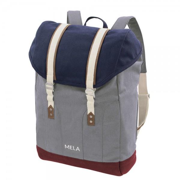 Melawear Rucksack MELA V - blau/grau/burgunderrot