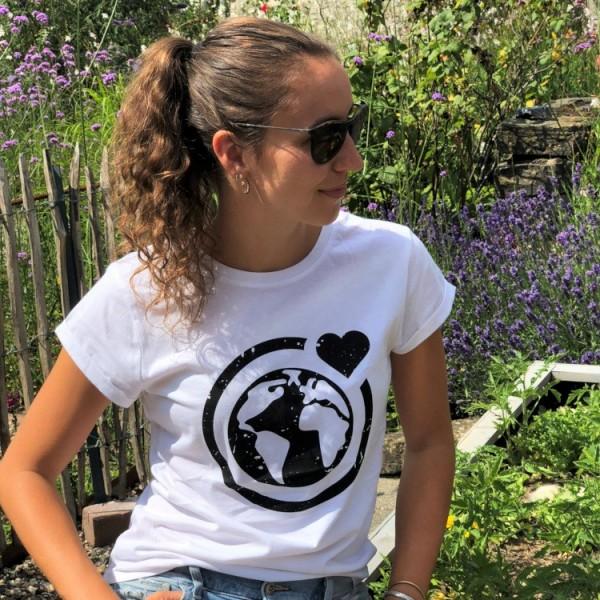 T-Shirt Große Murmel Rolled Up - recycelt (weiß)