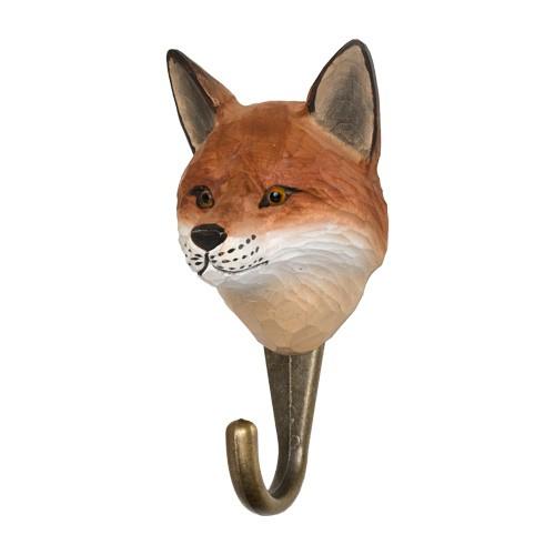 Handgeschnitzter Haken - Fuchs