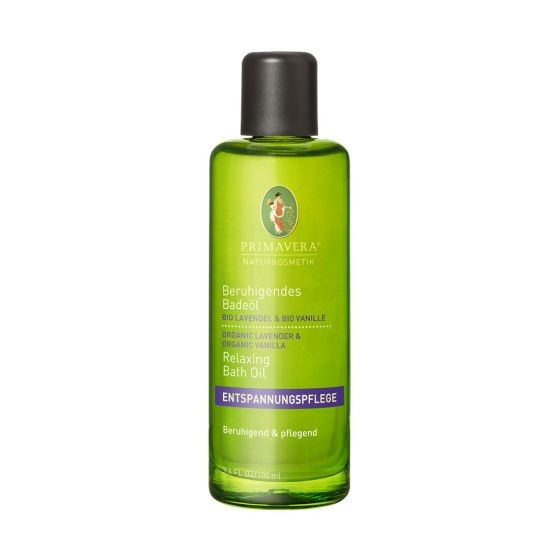 Beruhigendes Badeöl Bio Lavendel & Bio Vanille Primavera
