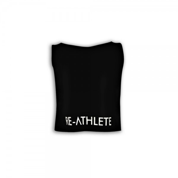 Re-Athlete Black Crop Top