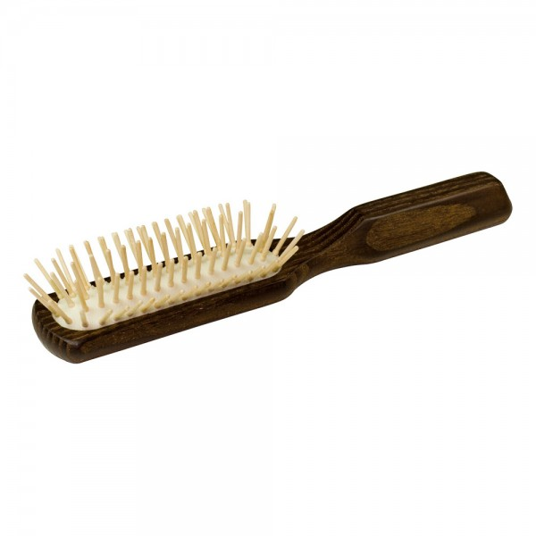 Haarbürste Thermoholz länglich