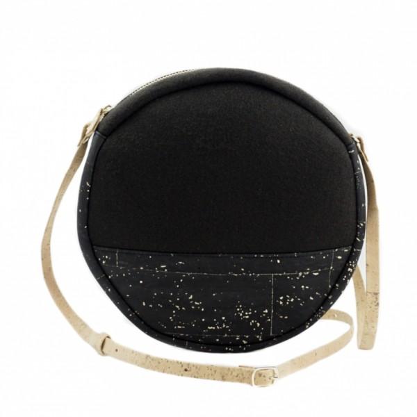 UlStO Handtasche Macra - schwarz-gold
