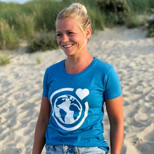 T-Shirt Große Murmel - blau