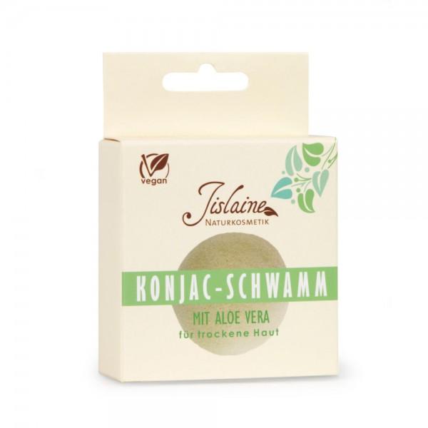 Konjac Peelingschwamm mit Aloe Vera - trockene Haut