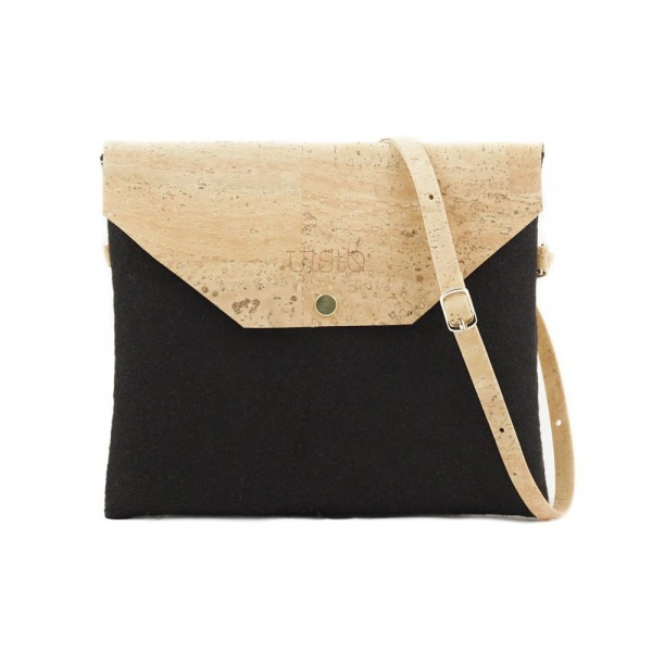 UlStO Handtasche Marila - schwarz-natur