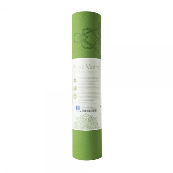 Yogamatte aus TPE 6 mm - grün