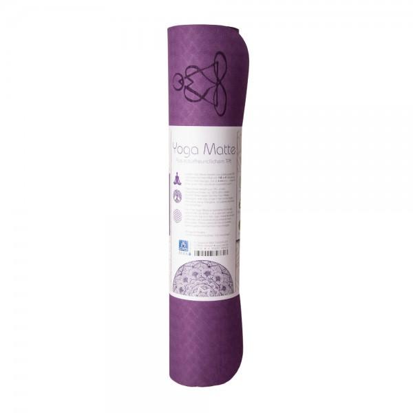Yogamatte aus TPE 6 mm - lila