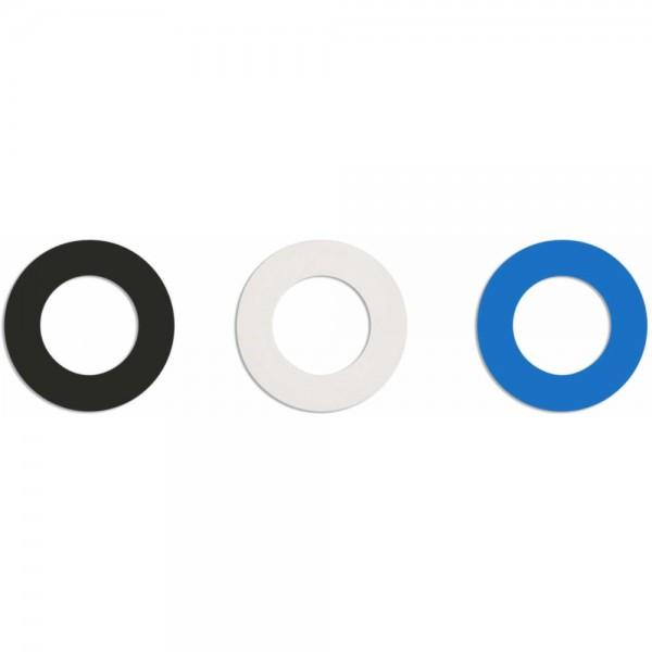 Gummiringe Soulbottles (schwarz, weiß, blau)