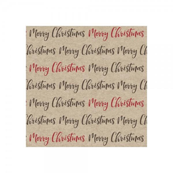 "Serviette ""Merry Christmas"" - 100 % Recycling"