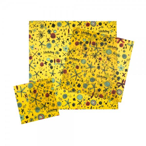Bienenwachstücher Blumenwiese - Größe S/M/L