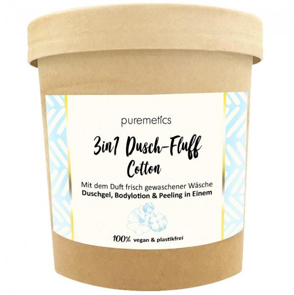3in1 Dusch-Fluff mit Zuckerpeeling Cotton
