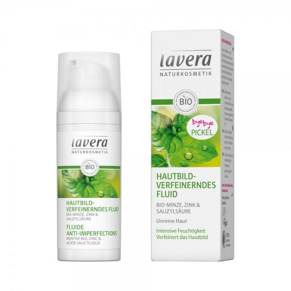 Hautbildverfeinerndes Fluid Minze Lavera