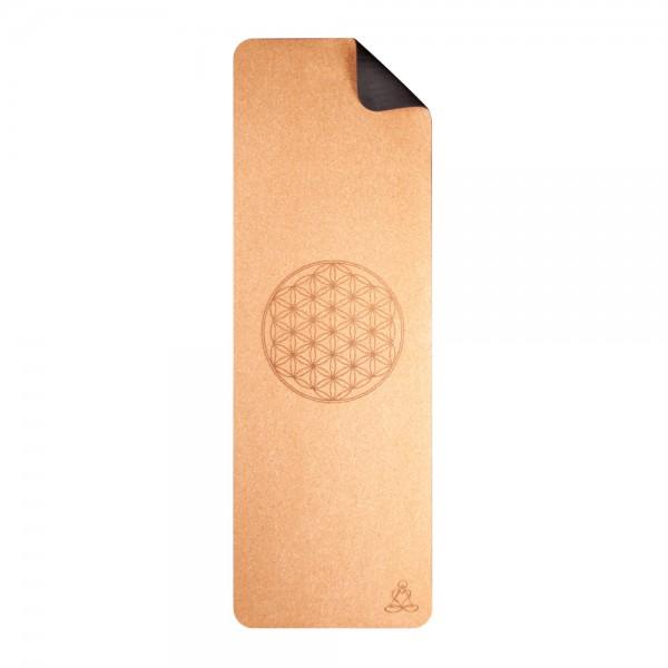 Yogamatte aus Kork 6 mm zweischichtig mit TPE