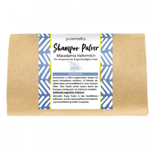 Shampoo-Pulver Macadamia Hafermilch - strapaziertes & blondierstes Haar