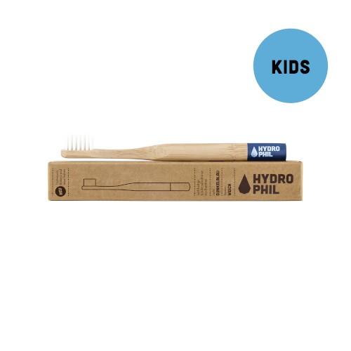 Kinder Zahnbürste Bambus - blau
