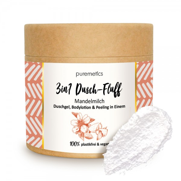 3in1 Dusch-Fluff Mandelmilch mit Zuckerpeeling