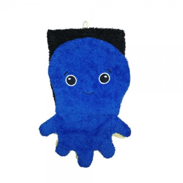 Bio Waschlappen Tintenfisch blau