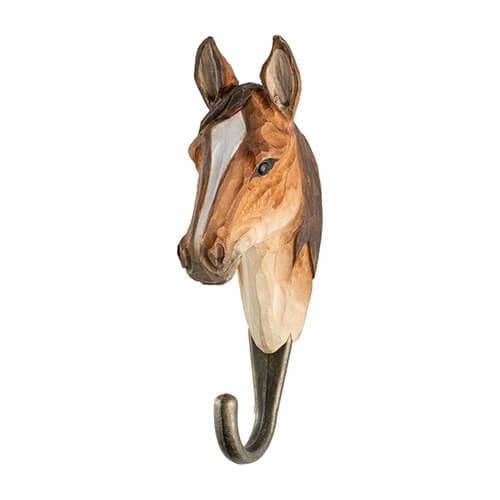 Handgeschnitzter Haken - Pferd