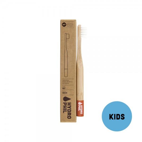Kinder Zahnbürste Bambus - rot