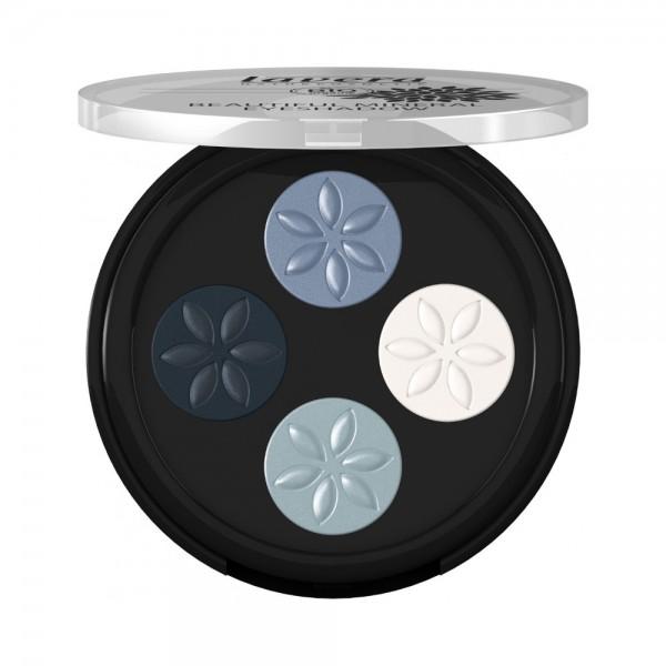 Beautiful Mineral Eyeshadow Quattro -Blue Platinum 07-Lavera