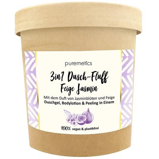 3in1 Dusch-Fluff mit Meersalzpeeling Feige Jasmin