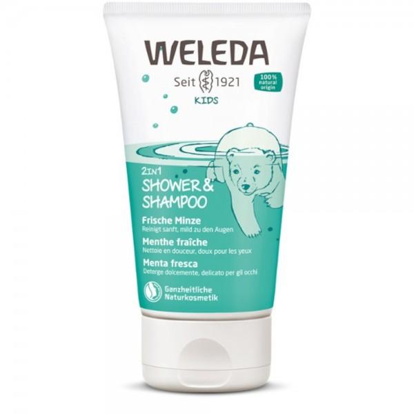 Kids 2in1 Shower & Shampoo Frische Minze Weleda