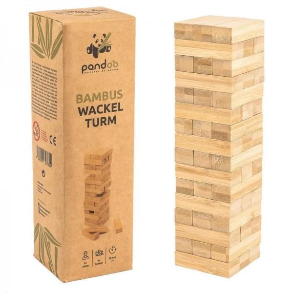 Wackelturm aus Bambus