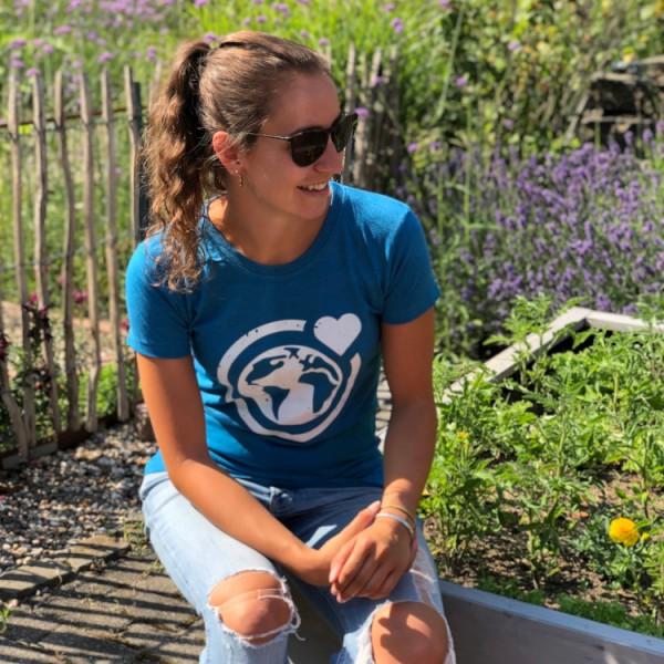 T-Shirt Große Murmel - recycelt (blau)