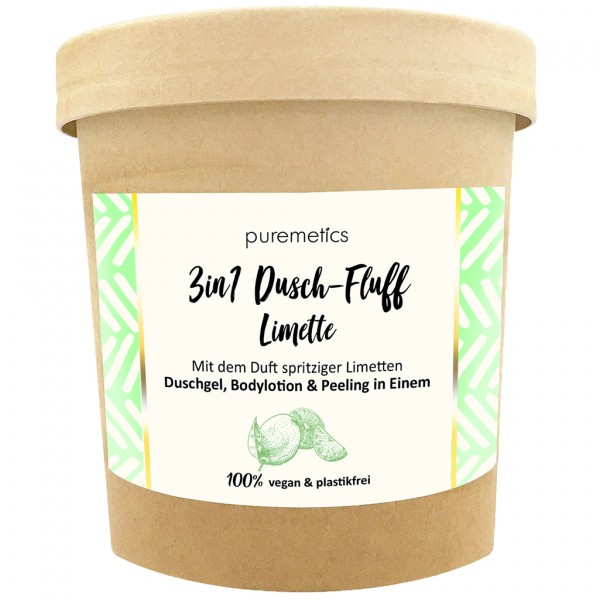 3in1 Dusch-Fluff mit Meersalzpeeling Limette