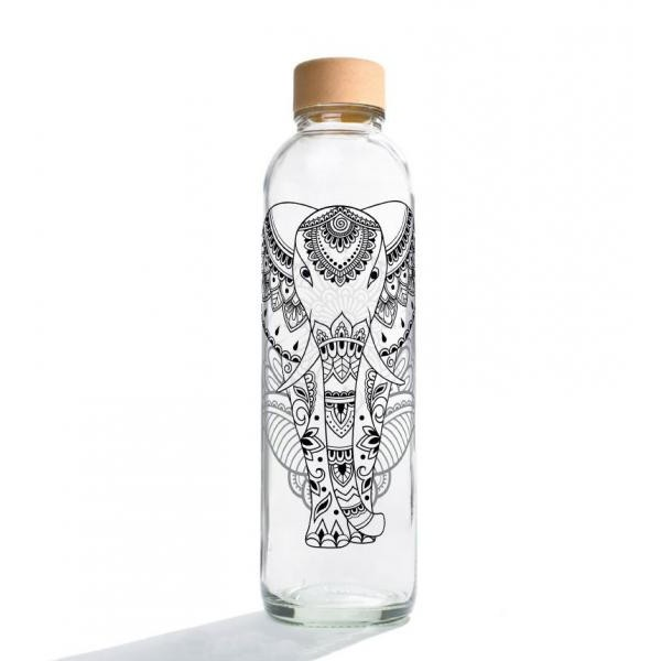 Carry Bottle Glastrinkflasche 0,7 l - Elephant