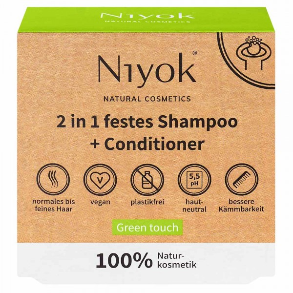 2in1 festes Shampoo + Conditioner - Green Touch