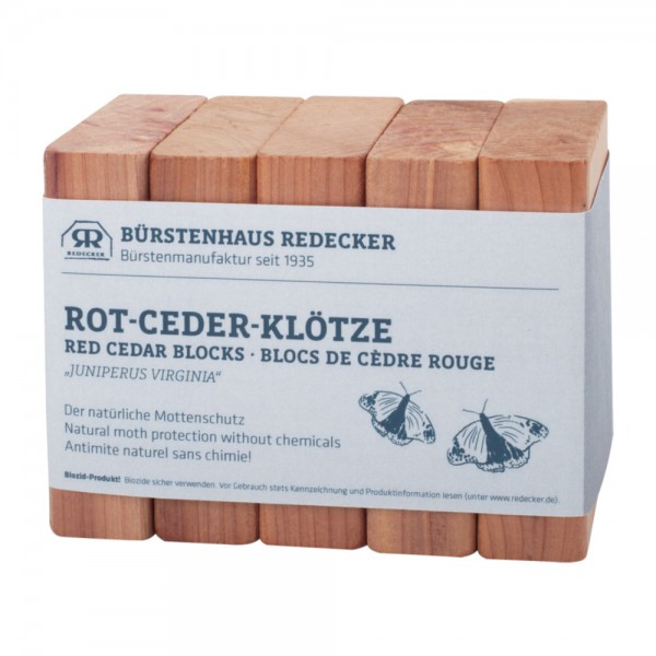 Rot-Ceder-Klötze - Mottenschutz