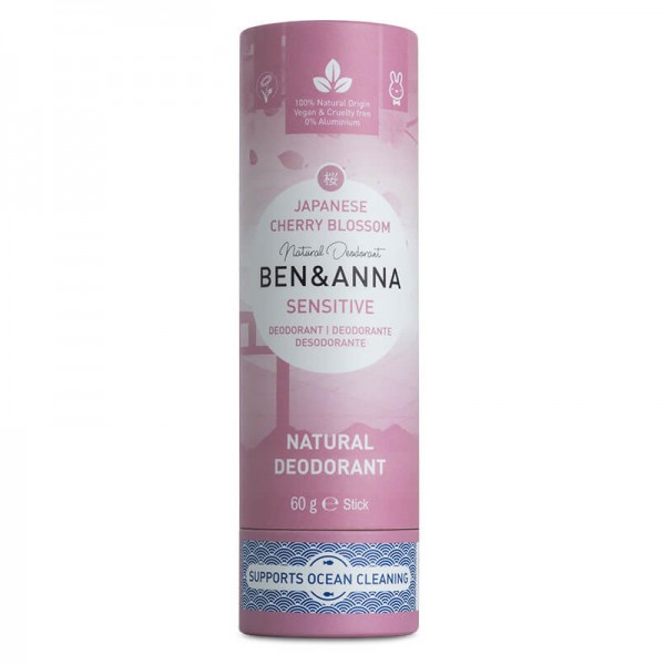 Ben & Anna Sensitive Deostick - Cherry Blossom