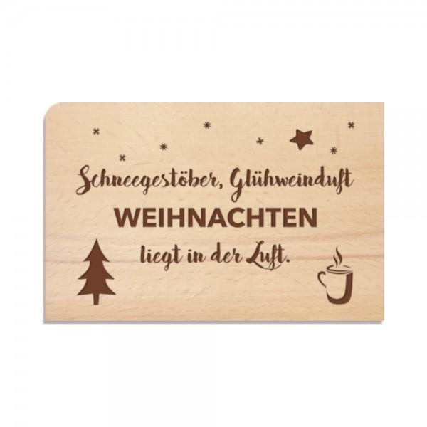 """Holzpostkarte """"Schneegestöber"""""""