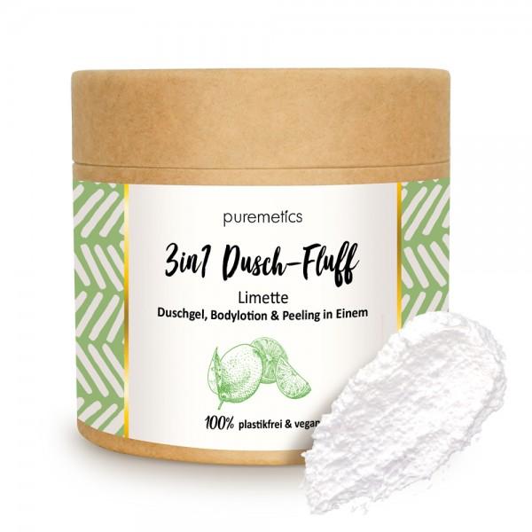 3in1 Dusch-Fluff Limette mit Meersalzpeeling
