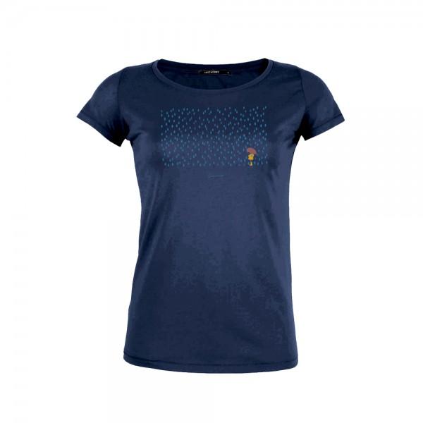 Greenbomb T-Shirt Nature Rain Child Loves   Dark Navy