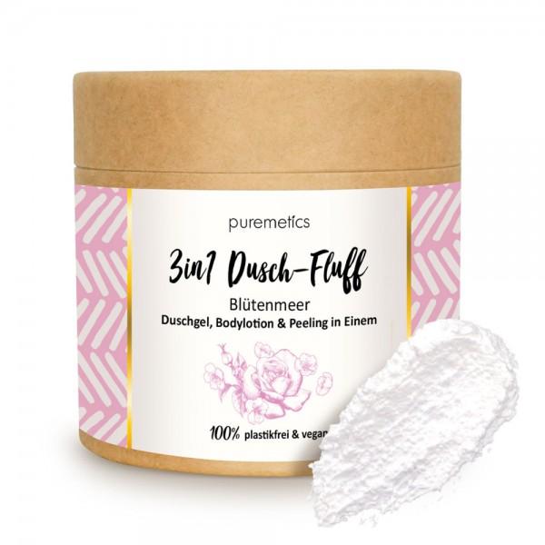 3in1 Dusch-Fluff Blütenmeer mit Zuckerpeeling