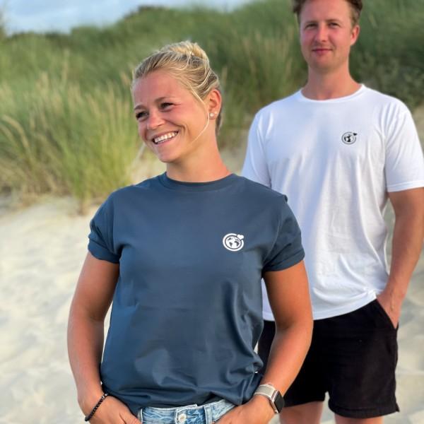 Unisex T-Shirt Kleine Murmel - denim
