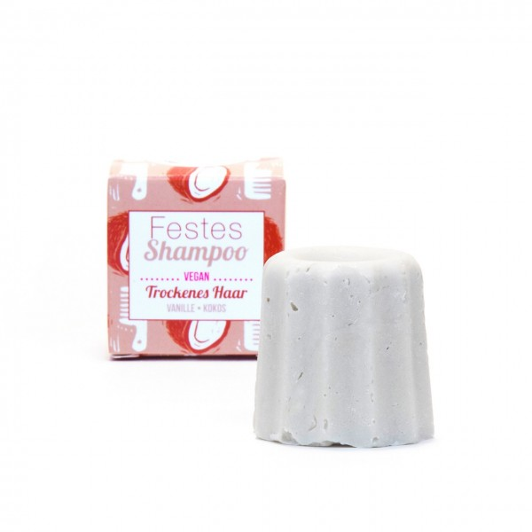 Festes Shampoo trockenes Haar - Vanille-Kokos