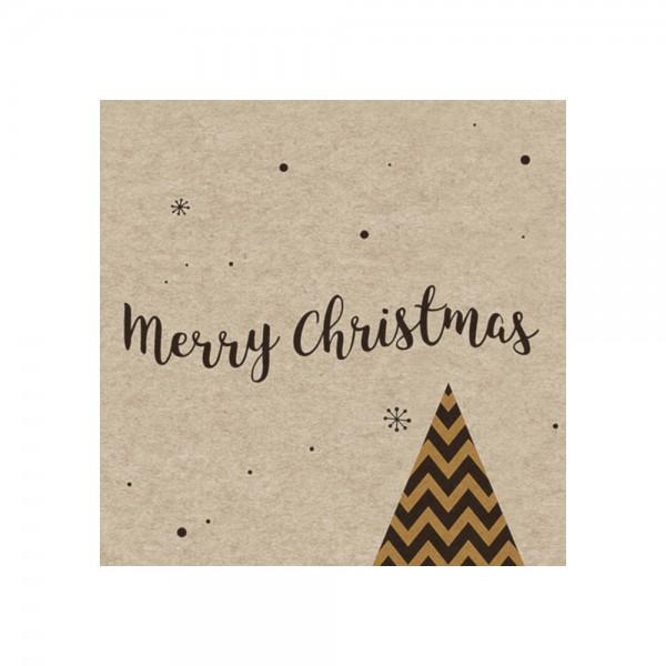 """Serviette """"Tannenbaum Christmas"""" - 100 % Recycling"""