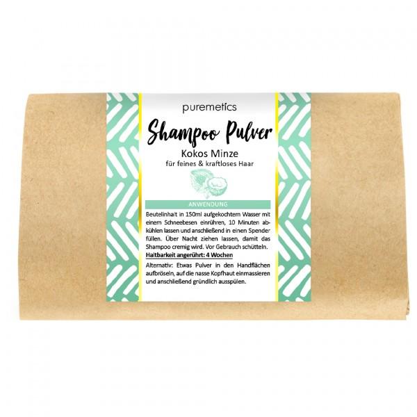 Shampoo-Pulver Kokos Minze - feines & kraftloses Haar