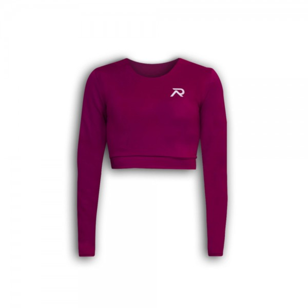 Re-Athlete Berry Cropped Longsleeve