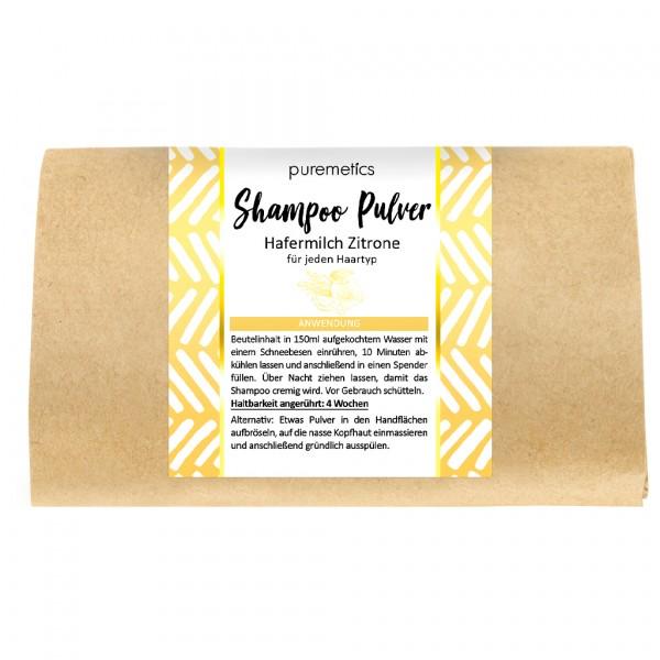 Shampoo-Pulver Hafermilch Zitrone - normales Haar