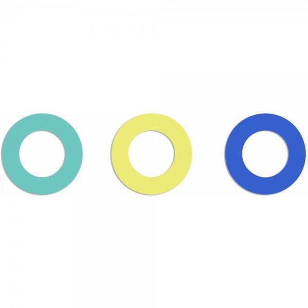Gummiringe Soulbottles (türkis, gelb,blau)